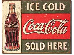 Ice Cold Coca-Cola Tin Sign