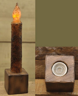 Window Stand for Battery Taper Candle