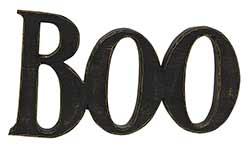 Boo Word Resin Shelf Sitter