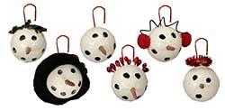 Small Snowman Head Ornament