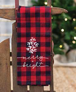 Merry & Bright Buffalo Check Dishtowel