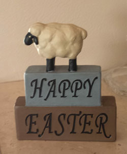 Happy Easter Block with Sheep