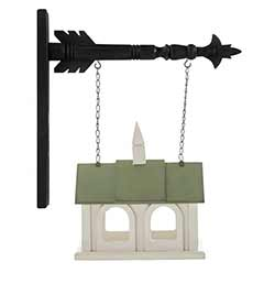 Birdhouse With Green Roof Arrow Replacement