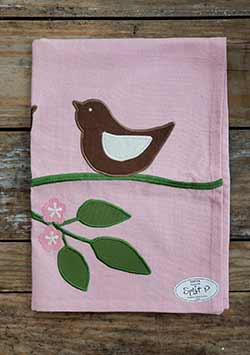 Bird Pair Applique Dishtowel