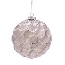 Pink Webbed Ball Ornaments (Set of 6)