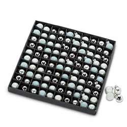 Silver & Gray Mini Ball Ornaments (Box of 100)