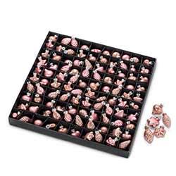 Pink Mini Ornaments (Box of 100)