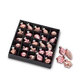 Pink Mini Ornaments (Box of 25)
