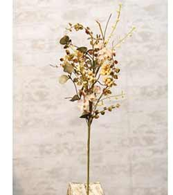 Cream Mixed Fall Floral Pick