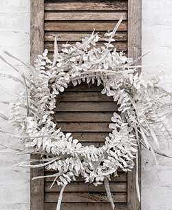 Winter White Sparkling Eucalyptus Wreath