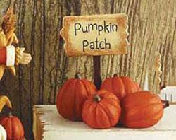 Pumpkin Patch Sign with Pumpkins