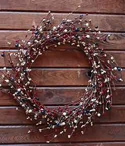 Americana Berry Wreath (16 inch)
