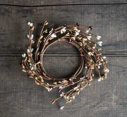 Burgundy, Olive, Cream, Tan Pip Berry Candle Ring (3.5 inch)