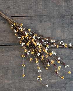 Mustard, Cream, Burgundy Pip Berry Pick