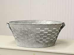 Gray Zinc Olive Tub
