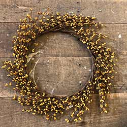 Mustard Pip Berry Wreath (16 inch)