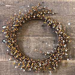 Mustard, Tea Stain, Cream Pip Berry Wreath (16 inch)