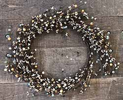 Antique Cream Mix Berry Wreath (16 inch)
