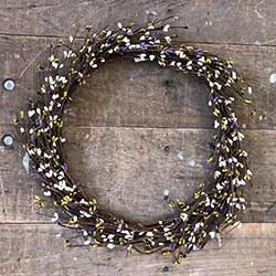 Lavender, Cream, and Green Pip Berry Wreath