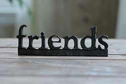 Friends Resin Shelf Sitter - Black