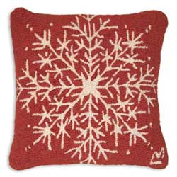 Snowflake Hooked Pillow