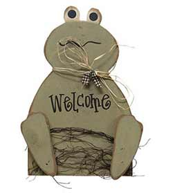 Frog Welcome Wall Decor