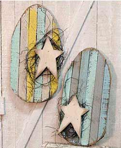 Lath Easter Egg Wall Decor