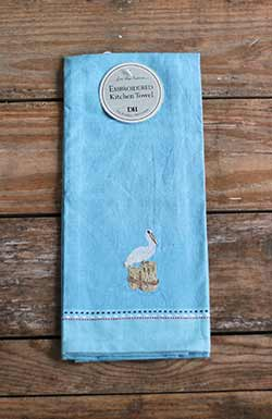 Pelican Embroidered Dishtowel