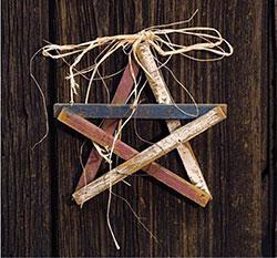Americana Wood Lath Star - 10 inch