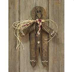 Lath Gingerbread Man Hanger - 16 inch