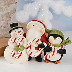 Joy with Snowman, Santa, & Penguin