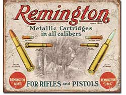 Remington Rifles & Pistols Tin Sign