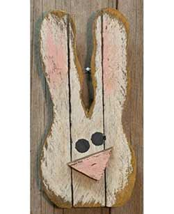 Lath Bunny Head Wall Decor