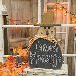 Harvest Blessings Scarecrow Wall Decor