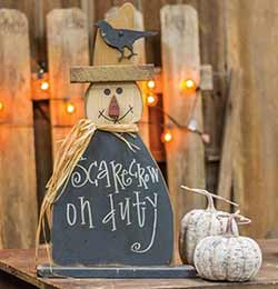 Scarecrow on Duty Standing Decor