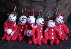 Long John Snowman Ornaments (Set of 6)