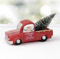 Christmas Truck with Snowman