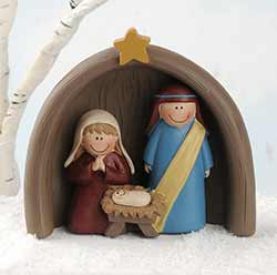 Holy Family with Creche