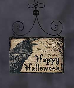 Happy Halloween Postcard Picture Ornament