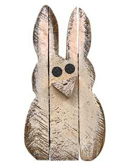 Lath Bunny Wall Decor