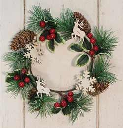 Pine Cone & Berry 12 inch Wreath / Candle Ring
