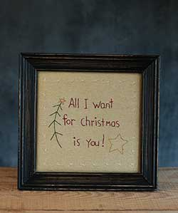 All I Want for Christmas Stitchery