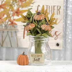 Welcome Fall Vase with Flowers
