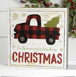 Dreaming of a Farmhouse Christmas Box Sign