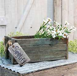 Distressed Blue Wooden Box