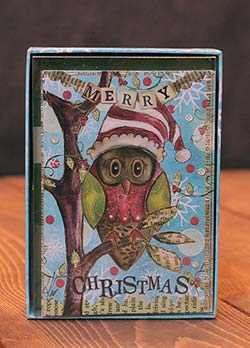 Holiday Owl Artisan Petite Christmas Card