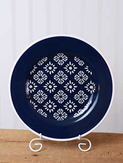 Indigo Salad Plate