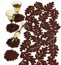 Fall Leaf Felt Coaster