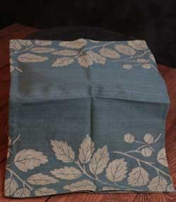 Teal Fall Jacquard Towel