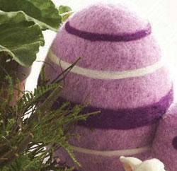 Purple Felt Standing Egg, 6.5 inch
